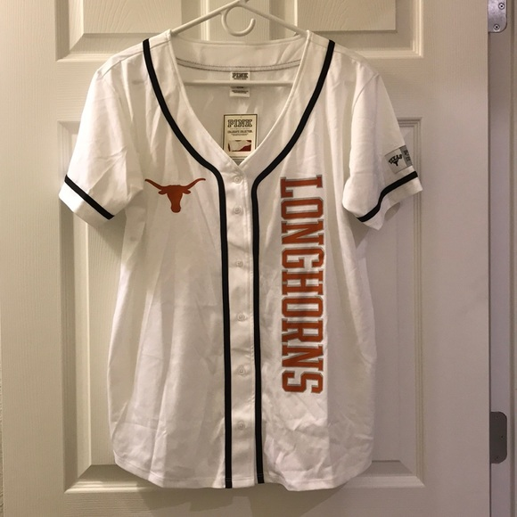 buy online ff878 ed193 💖 VS PINK - Texas Longhorns Baseball Jersey NWT